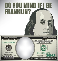 Franklin whimsical money graphic vector