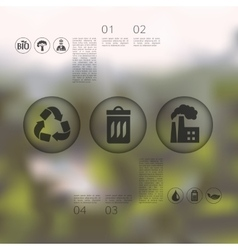 Ecology infographic with unfocused background vector