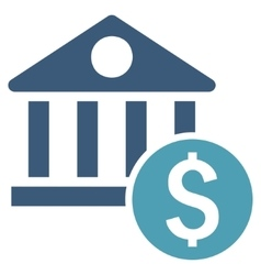 Dollar bank flat icon vector