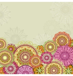 abstract design with arabesques vector image