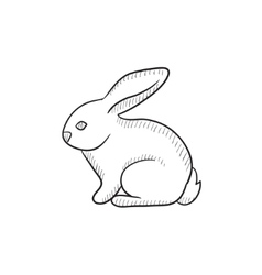 Rabbit sketch icon vector