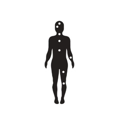 Flat icon in black and white style ebola symptoms vector