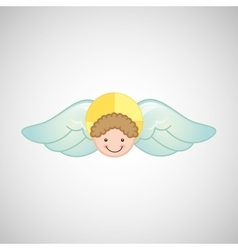 Angel wings religion vector