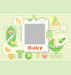 Baby green set vector