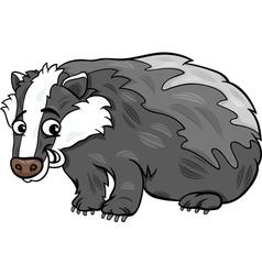 Badger animal cartoon vector