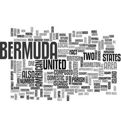 Bermuda text word cloud concept vector