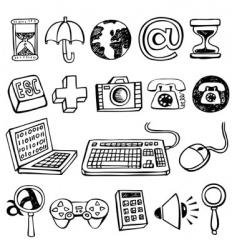 Computer symbols vector