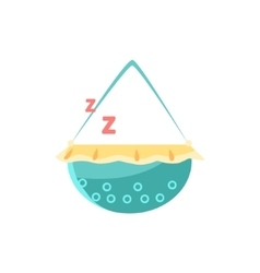 Cradle with sleeping baby vector