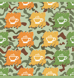 cup of coffee pattern vector image vector image
