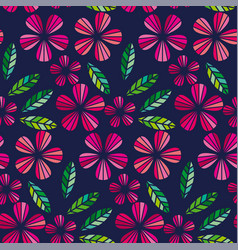 decorative leave and flower design element vector image vector image