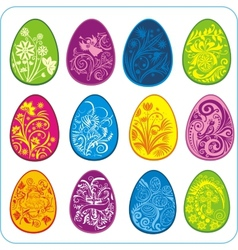 Eggs Easter design - set vector image vector image