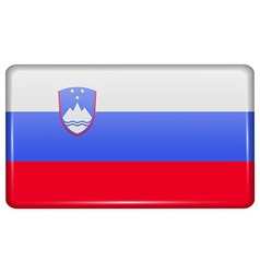 Flags Slovenia in the form of a magnet on vector image vector image