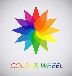 Flower Color Wheel vector image vector image