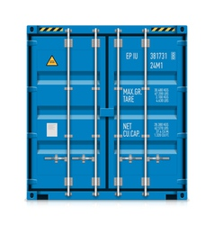 Freight shipping cargo container vector