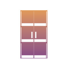 glass door icon image vector image