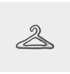 Hanger sketch icon vector image vector image