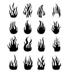 icons of flames vector image