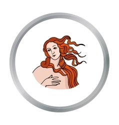 Italian goddess of love icon in cartoon style vector