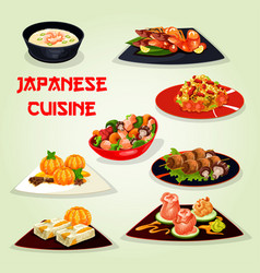 Japanese cuisine lunch icon for asian food design vector