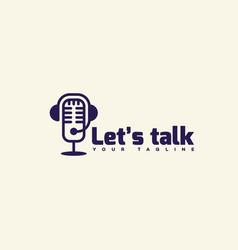 lets talk logo vector image