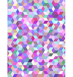 Multicolor 3d cube mosaic background design vector