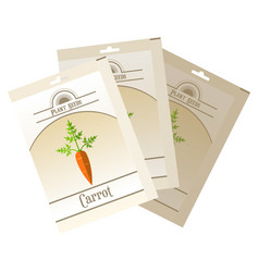 pack of carrot seeds icon vector image vector image