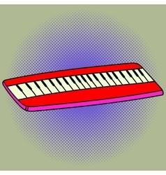Piano Pop art vector image
