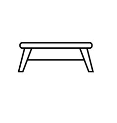 playground table icon vector image