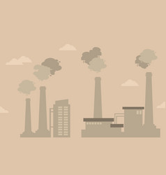 Pollution industry bad environment silhouettes vector