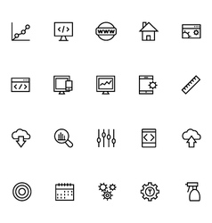 Productivity and development icons 2 vector