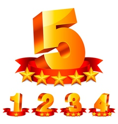 Rating numbers vector image