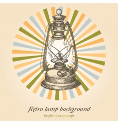 retro lamp vector image