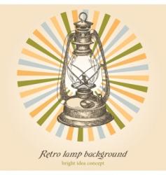 retro lamp vector image