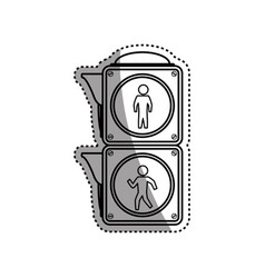 Semaphore pedestrian light post vector