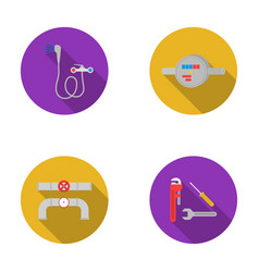 shower faucet water meter and other equipment vector image