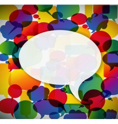 speech bubbles pattern vector image vector image
