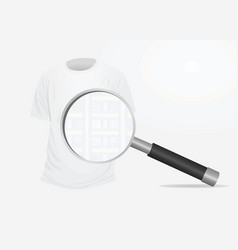 t shirt and magnifying glass vector image