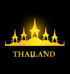 Thailand card with the royal funeral pyre rama 9 vector