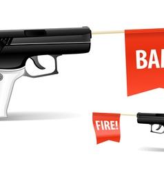 Toy gun vector image vector image