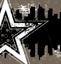 urban retro background design vector image vector image