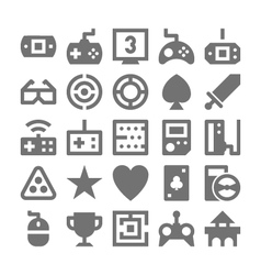 Video game icons 3 vector
