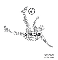 active soccer player shape vector image