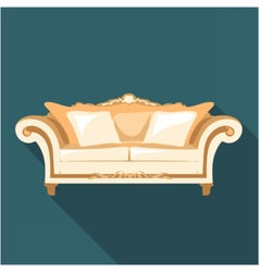 Digital vintage brown sofa vector