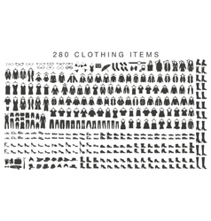 Isolated silhouettes of men and women clothing vector