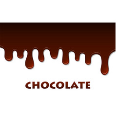 Melted chocolate abstract decoration background vector