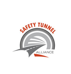 Road tunnel icon for safety traffic emblem design vector
