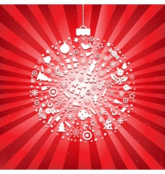 Christmas ball from icons vector