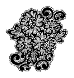 Black lace ornament vector image