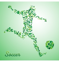 Abstract soccer player vector image