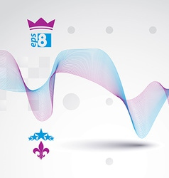 Sophisticated 3d waved decoration clear eps 8 vector